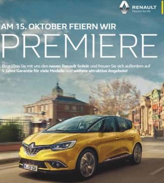 AutohausAmKirchberg Premiere Scenic Titelbild
